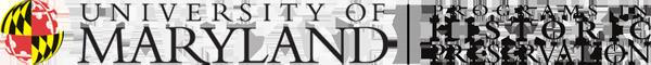 UMD Historic Preservation Programs logo
