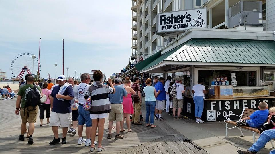 Fisher's Pop Corn, an Ocean City favorite. Photo by Fisher's Pop Corn.