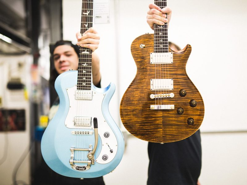 Hand-crafted guitars by Paul Reed Smith in Stevensville, MD