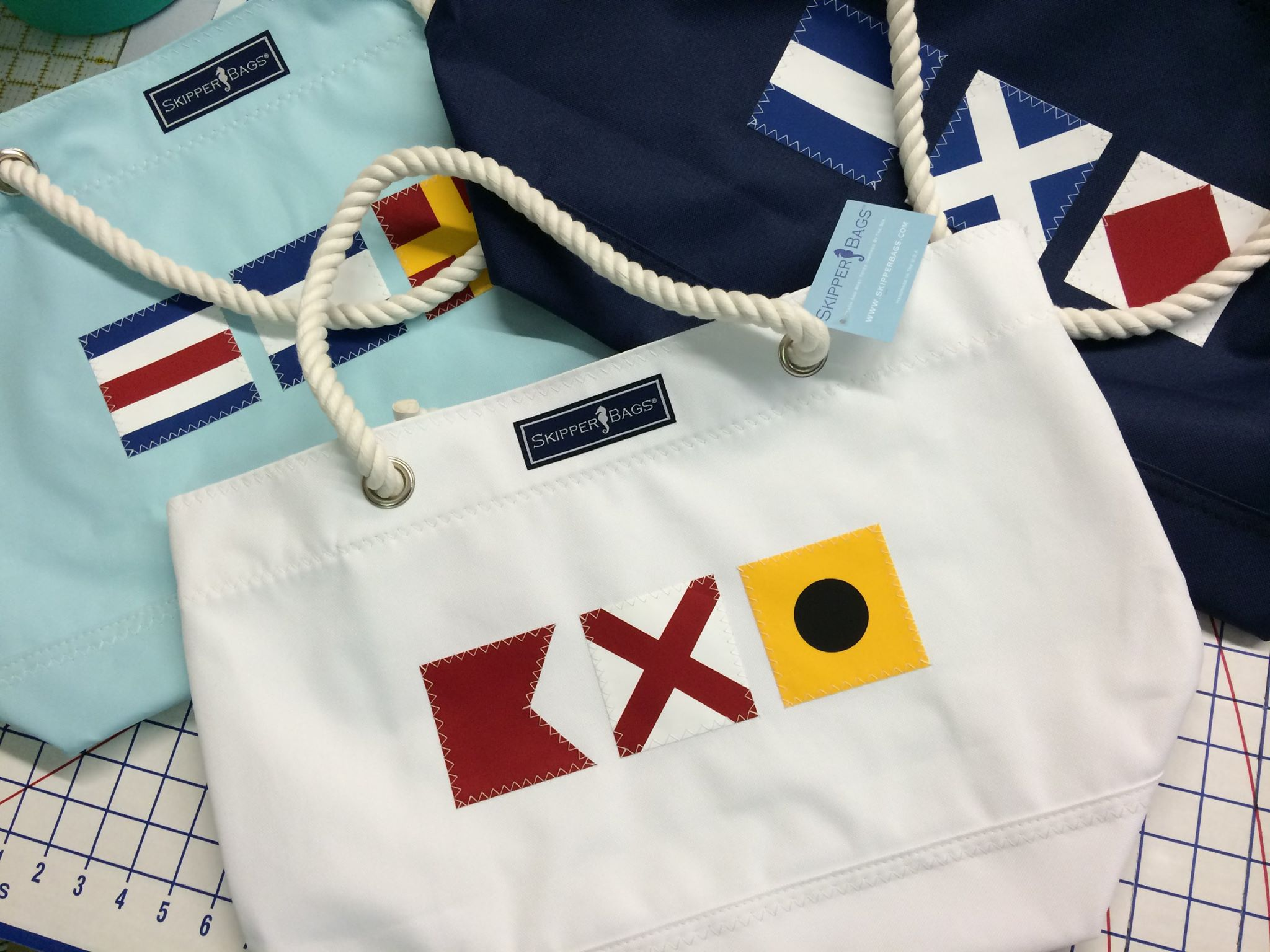 Skipper Bags, crafts everything nautical from Easton, MD. Photo via Skipper Bags.