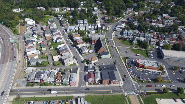 Kingsley Methodist Church from above, courtesy Cumberland Times-News