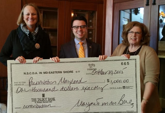 Contribution Check to Preservation Maryland