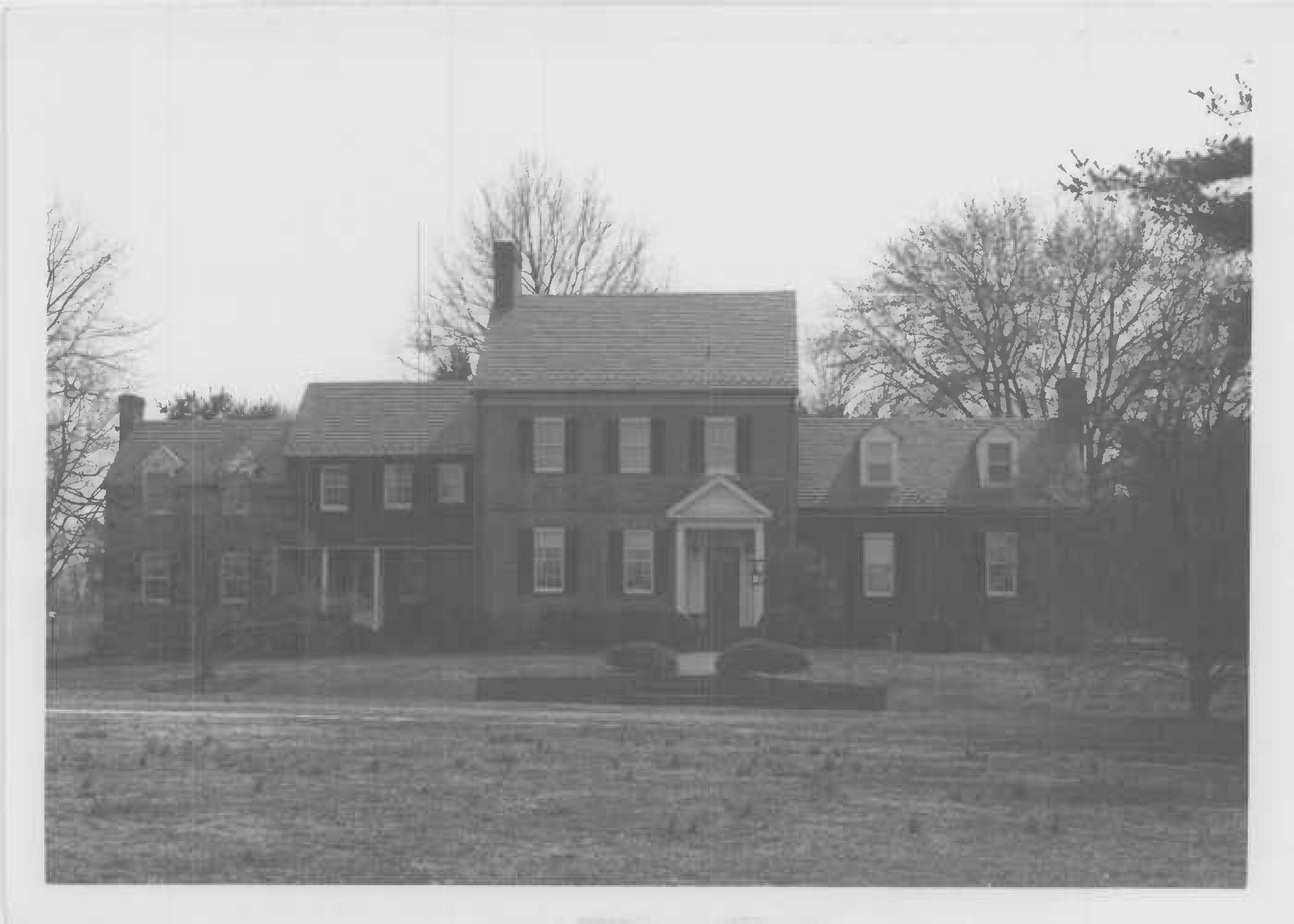 North elevation of Whites Hall. Photo by Donna Ware, Maryland Historical Trust, 1984