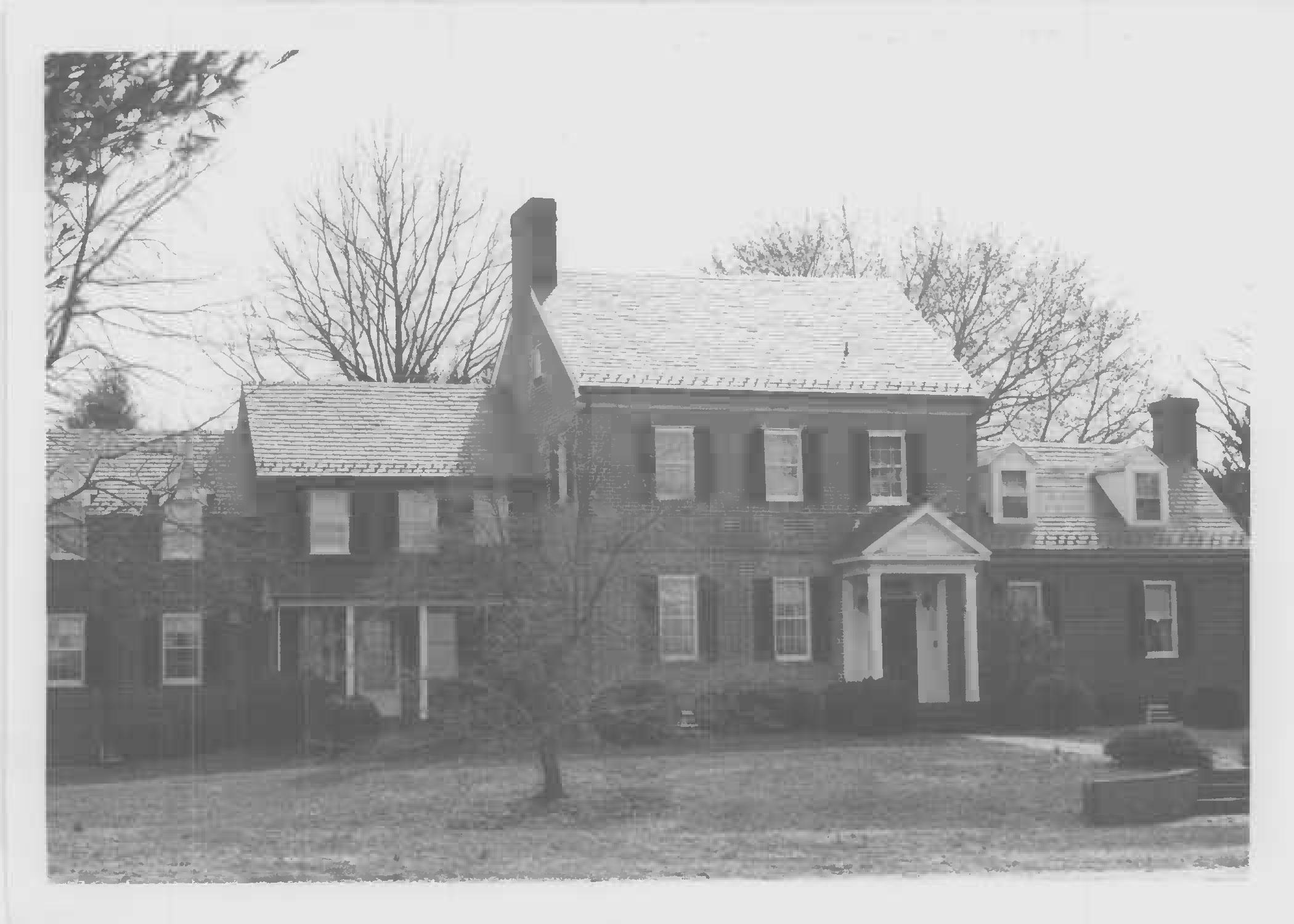 North elevation of Whites Hall