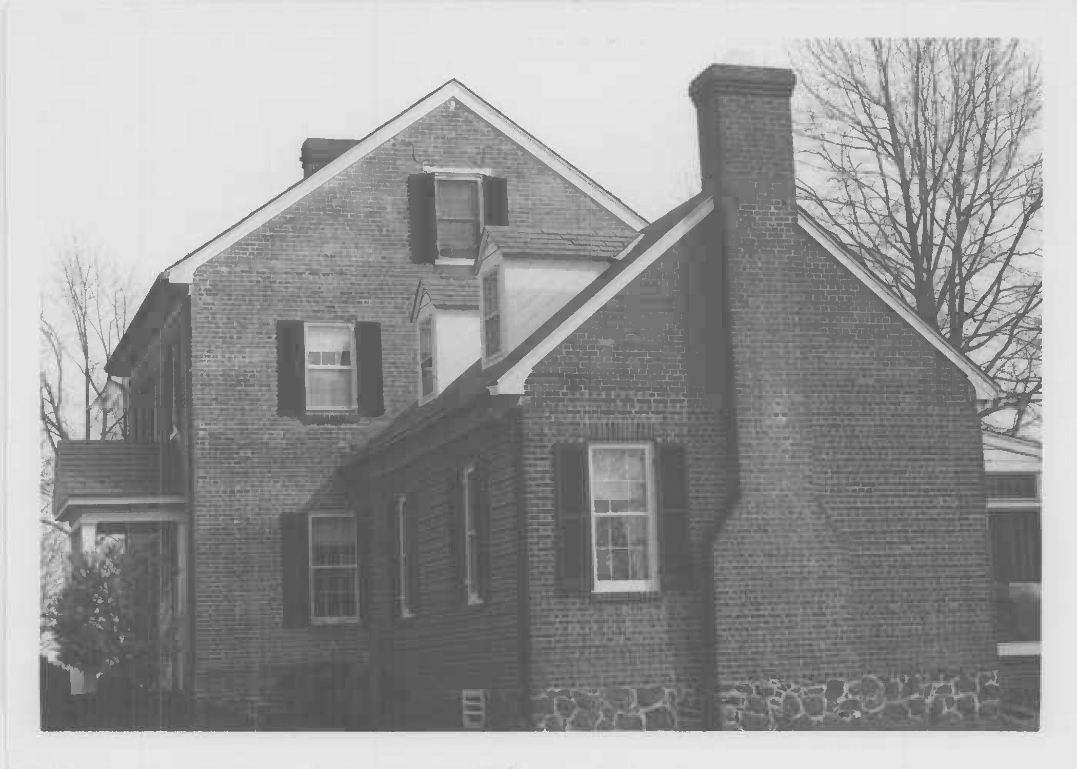 West gable end, Whites Hall in Maryland