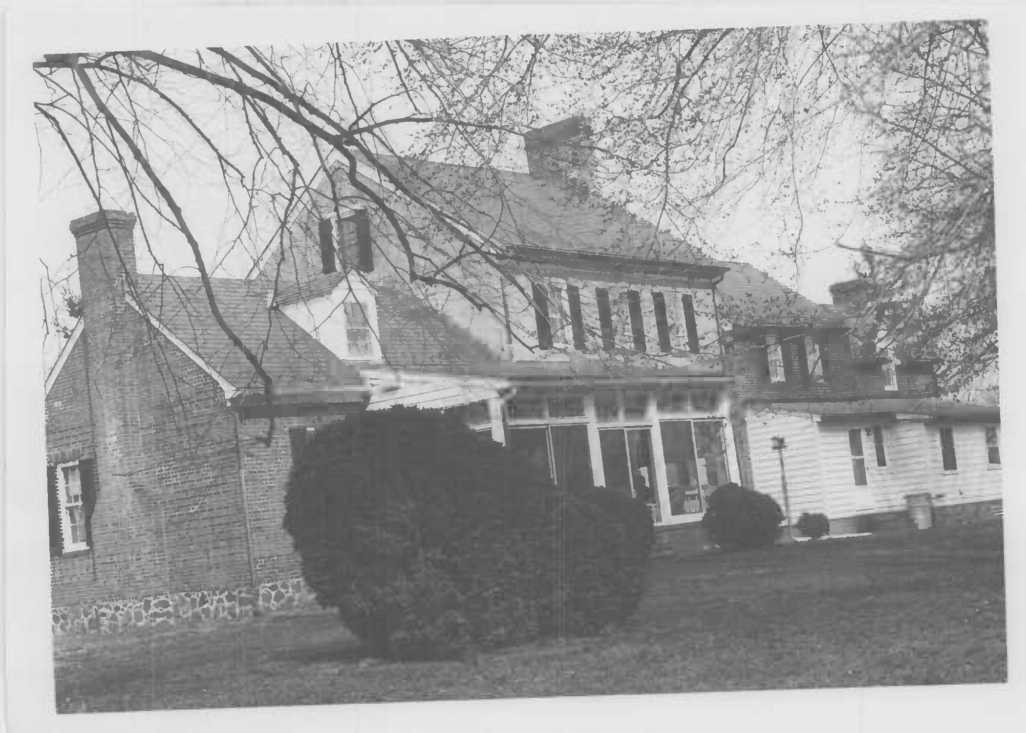 South elevation of Whites Hall in Maryland