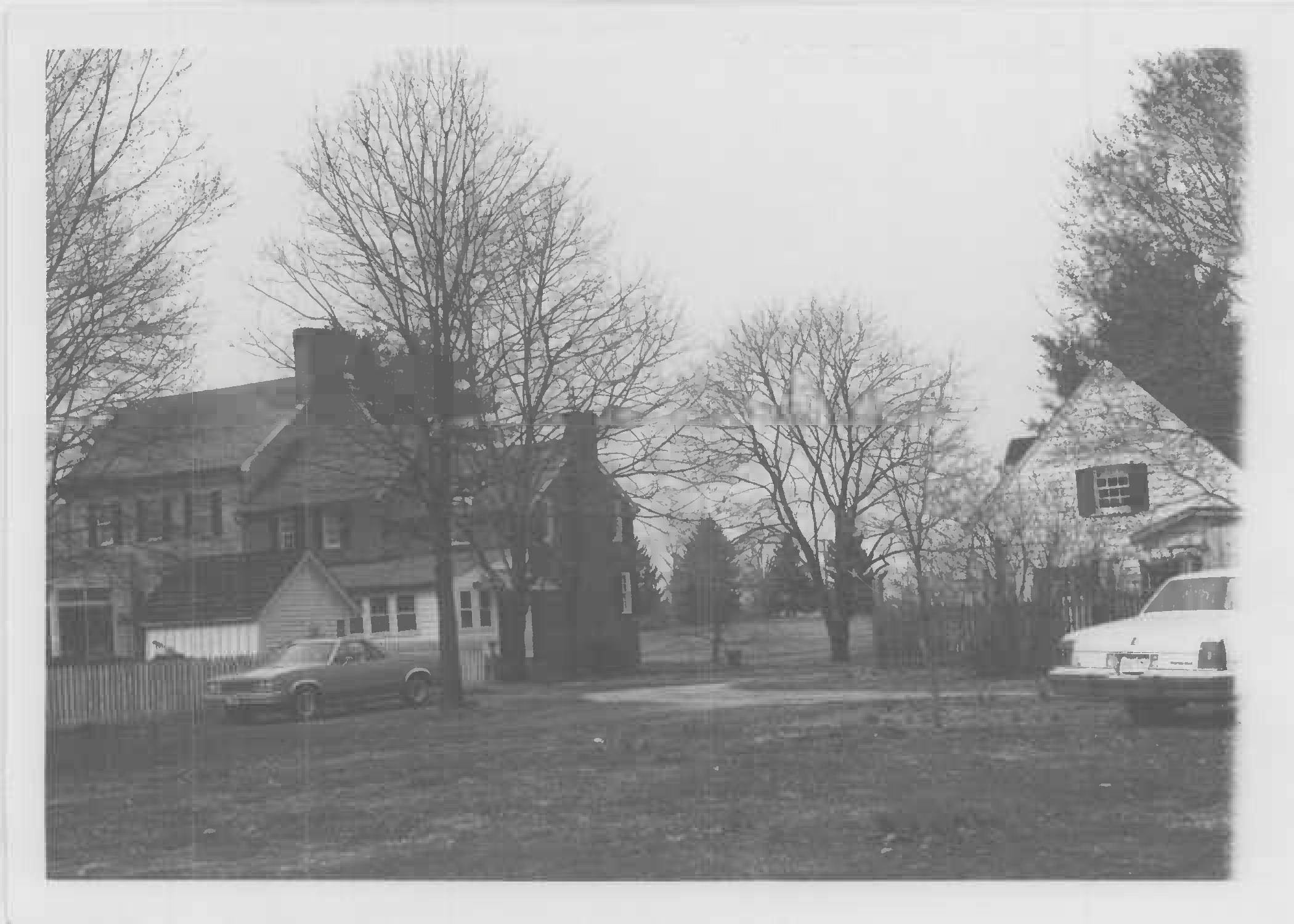 View looking northwest toward rear of house, south elevation, Whites Hall in Maryland