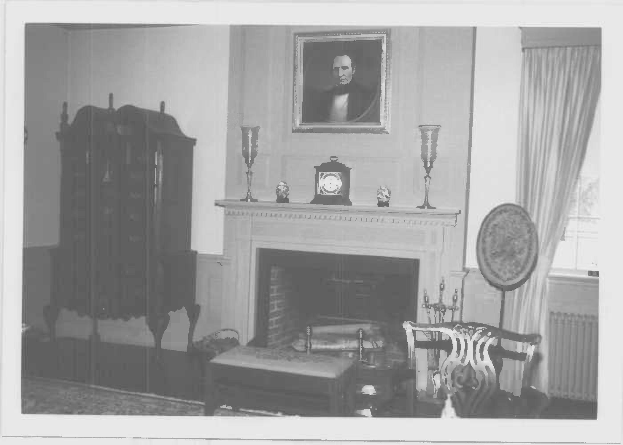 Mantel, west wing, Whites Hall in Maryland