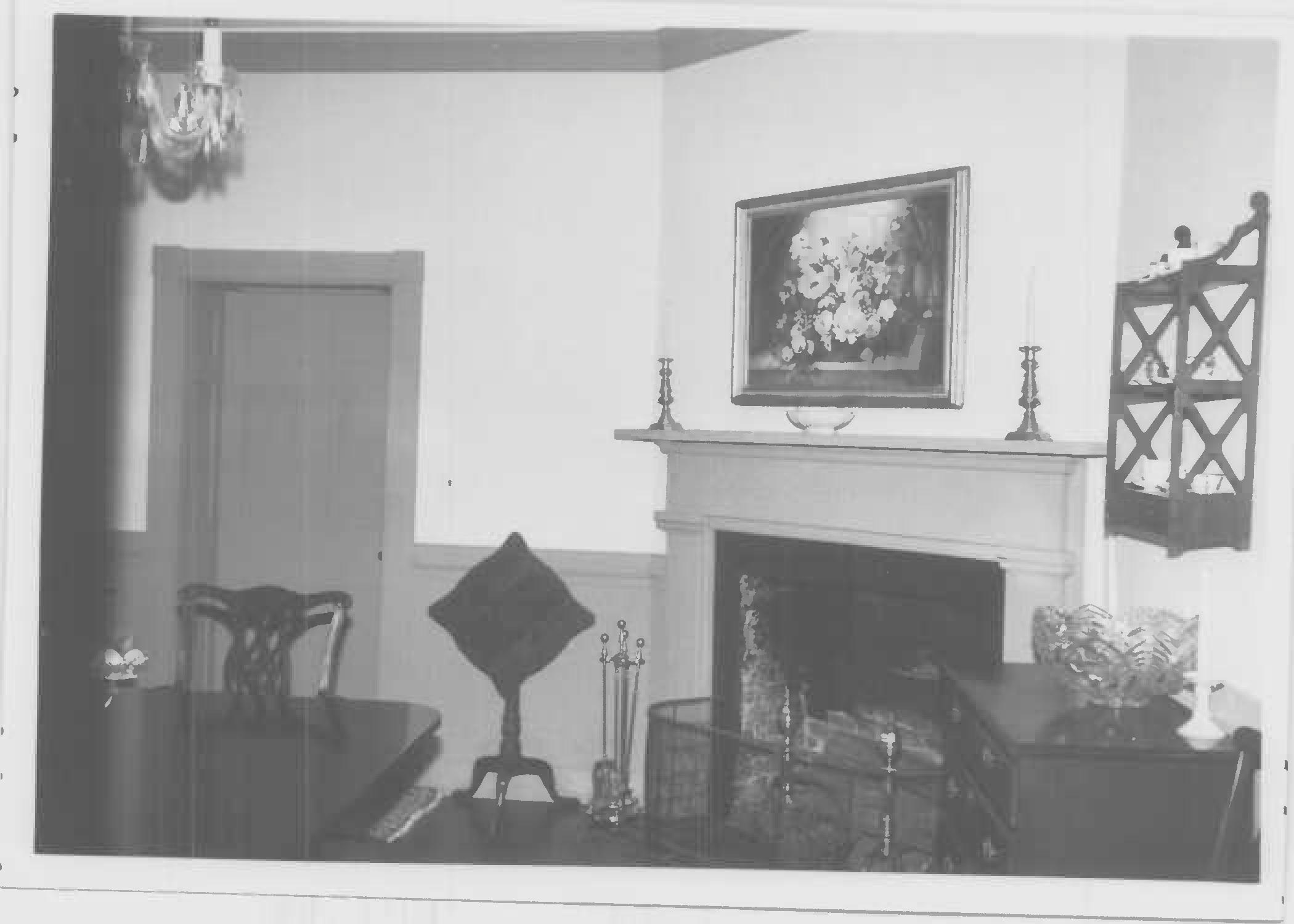 Mantel, north room of main block, first floor, Whites Hall in Maryland