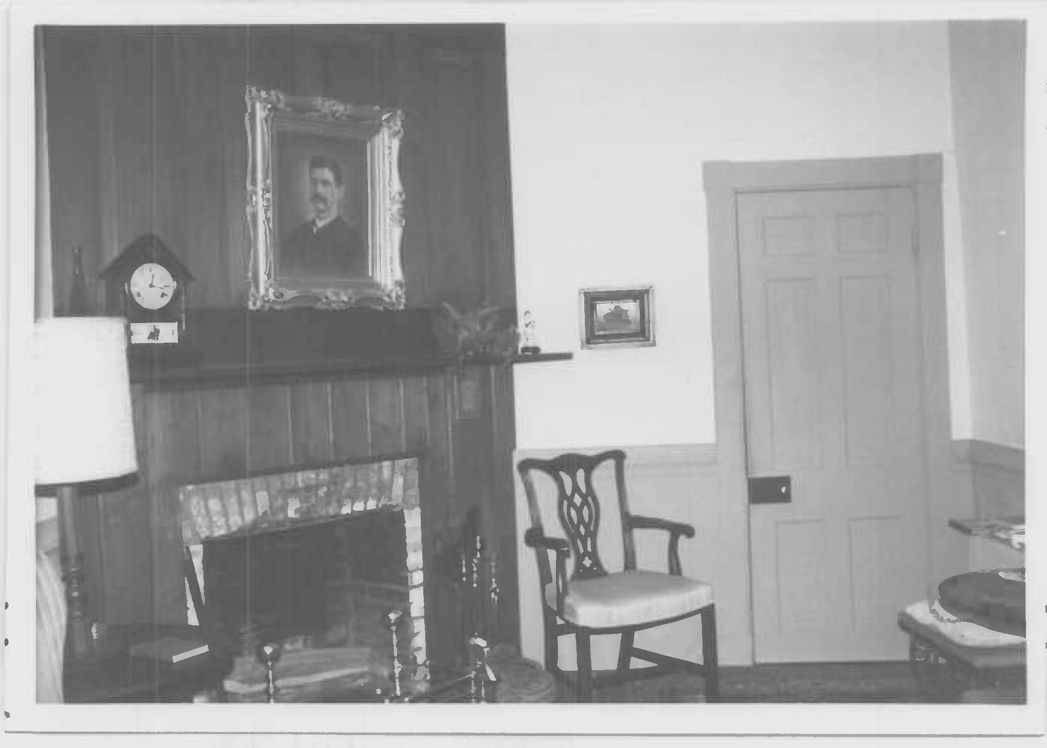 South room of main block, first floor, Whites Hall in Maryland