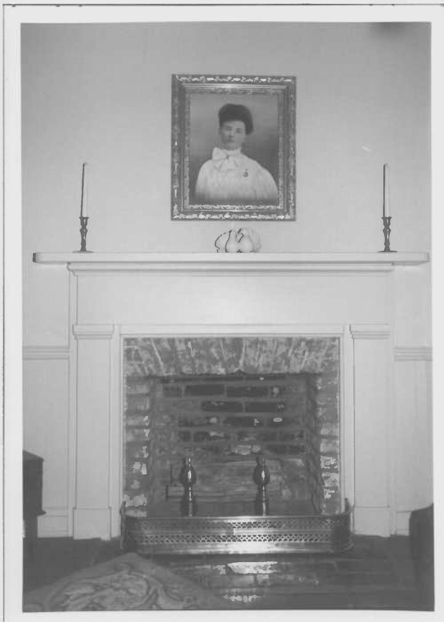 Mantel, north room, second floor of main block, Whites Hall in Maryland