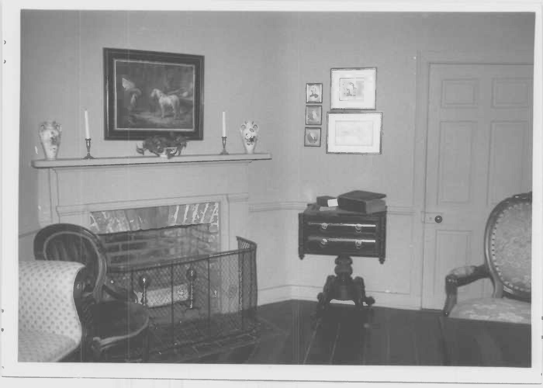 Mantel, second floor, south room of main block, Whites Hall in Maryland