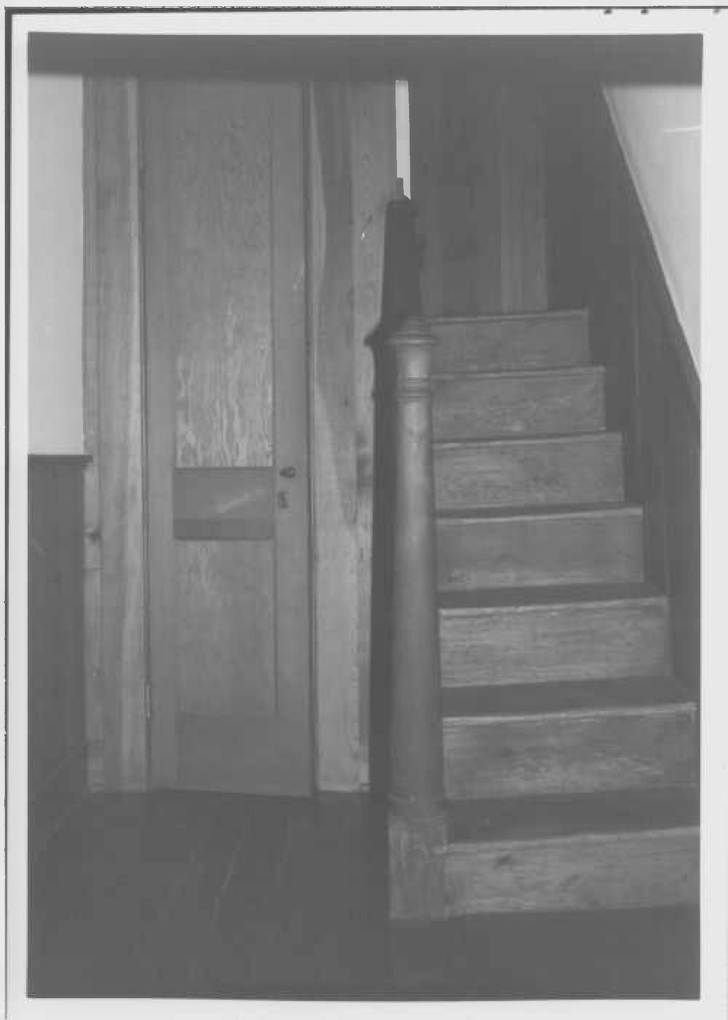 Secondary stair, east wing, Whites Hall in Maryland
