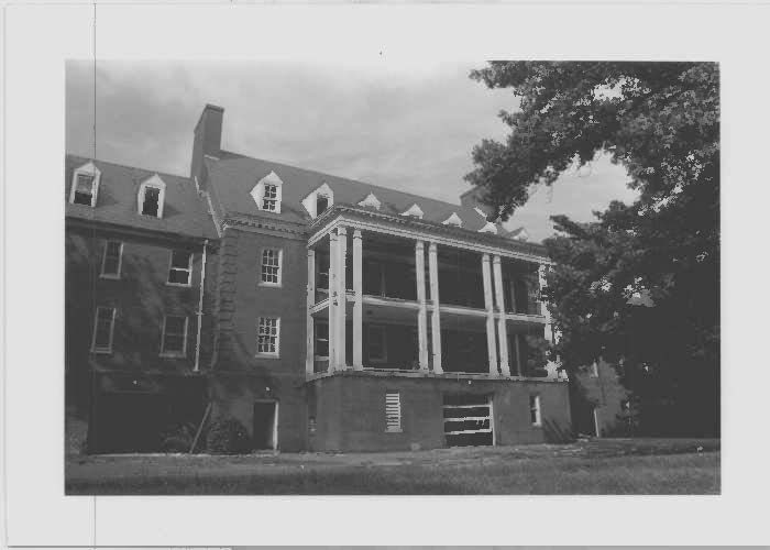 Image of McCarran Hall, the nurses' dorm sough elevation at Glenn Dale Hospital