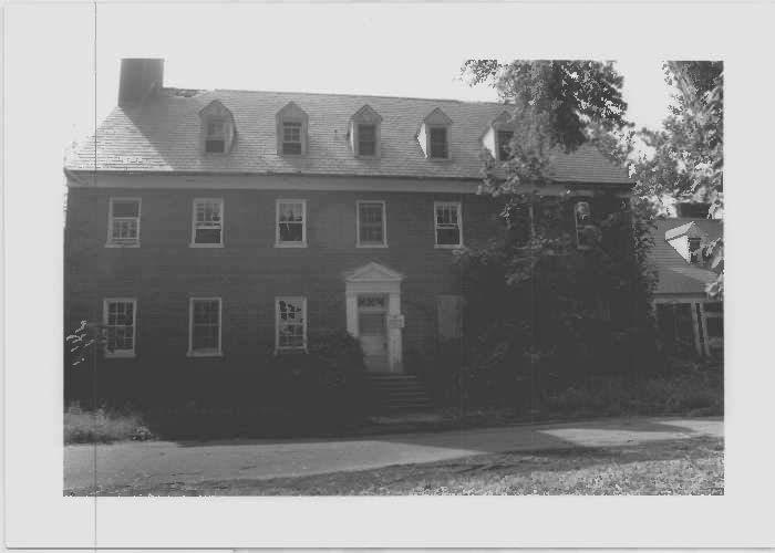 Image of Capper Hall, the nurses' dorm at east elevation at Glenn Dale Hospital