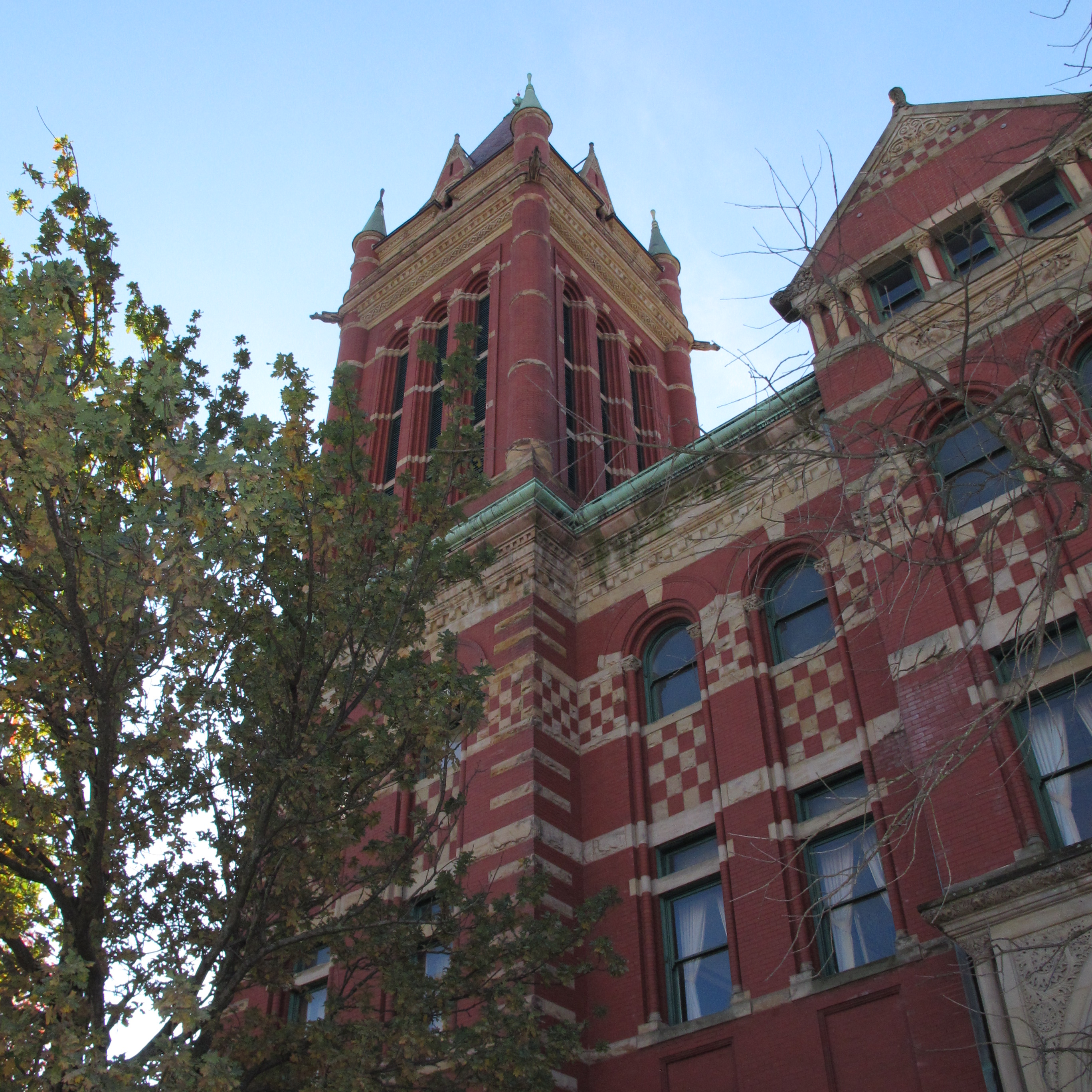 The tower of Allegany County Courthouse