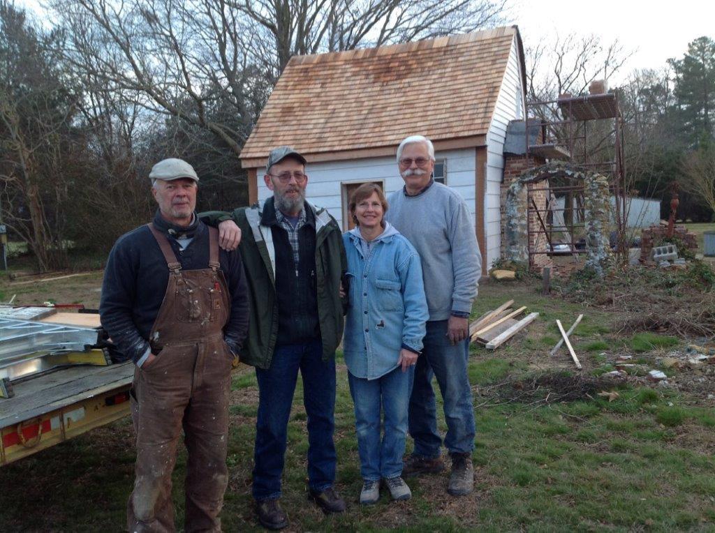 The Webb Cabin during restoration, 2016.