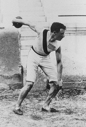 Robert Garrett, Olympic Games 1896, Athens. Photo from Wikipedia.
