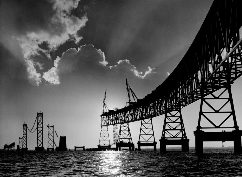 "Photography credit: ""Bay Bridge Rising,"" by A. Aubrey Bodine. Copyright Jennifer B. Bodine."