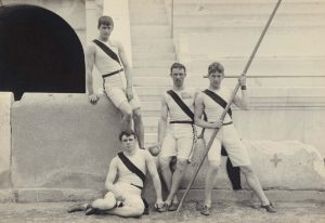 Black and white photograph from the Olympic Games 1896