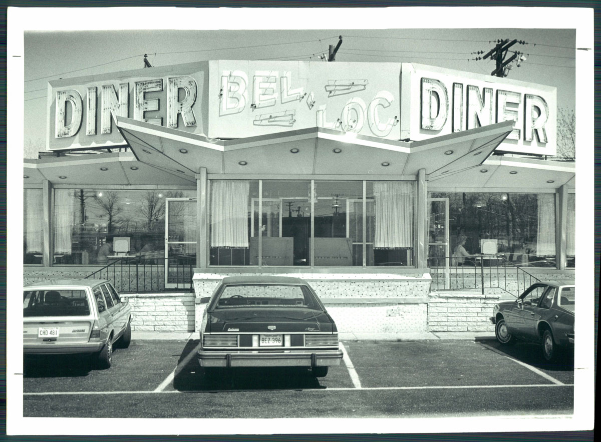 Bel-Loc Diner, ca. 1981, courtesy The Baltimore Sun