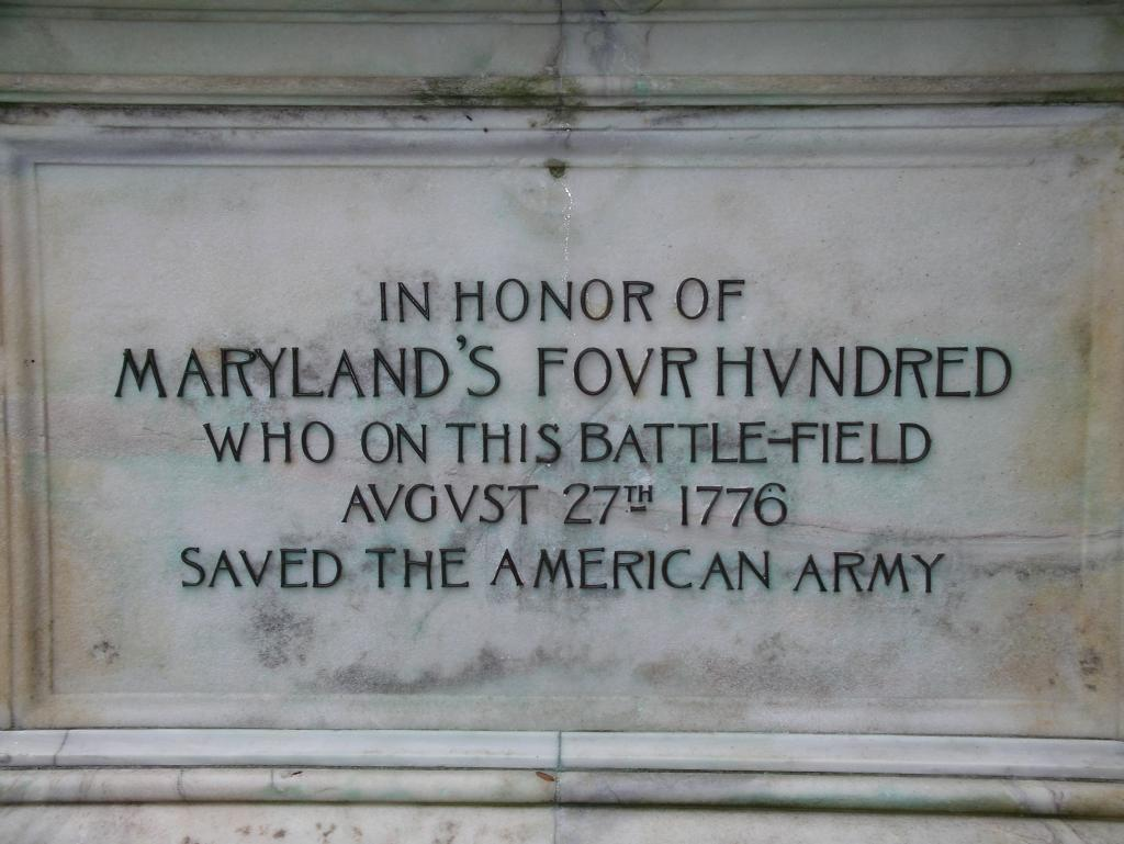 Maryland monument in Brooklyn, New York