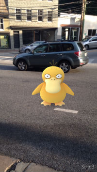 "Screenshot from mobile phone game ""Pokemon Go"""