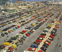 Ca. 1990 car show. Photo by Roland Bynaker, courtesy Ocean City Life-Saving Station Museum.