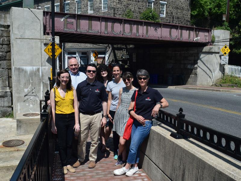 Preservation Maryland staff in Ellicott City, 2017.