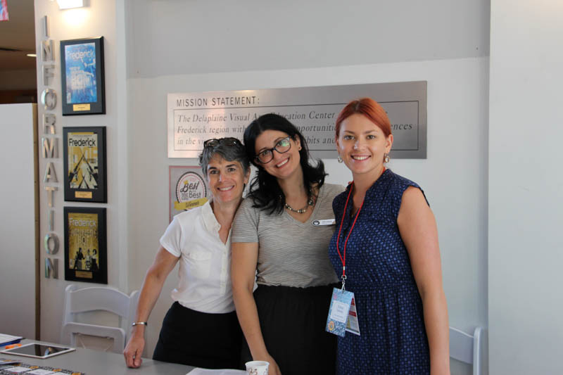 Jana Carey, Elly Colmers, and Elena Volosina, all representing Preservation Maryland.