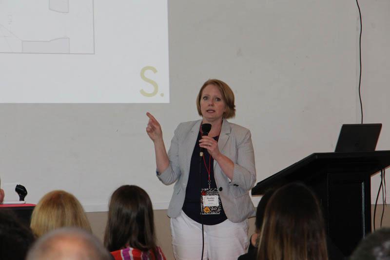 Heather Arnold, StreetSense, giving a midday presentation.