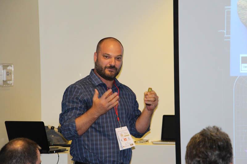 Joe Nicoli, Direct Dimensions, discussing laser scanning.