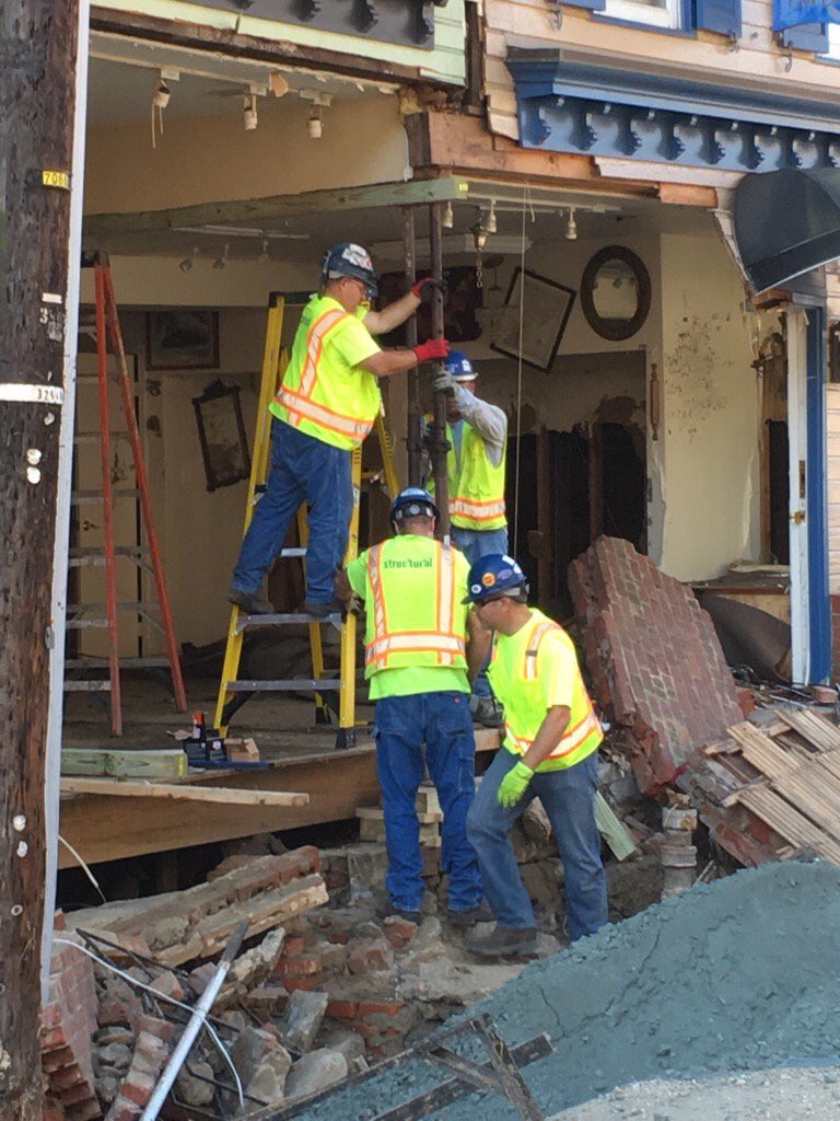 Emergency stabilization, August 7, 2016