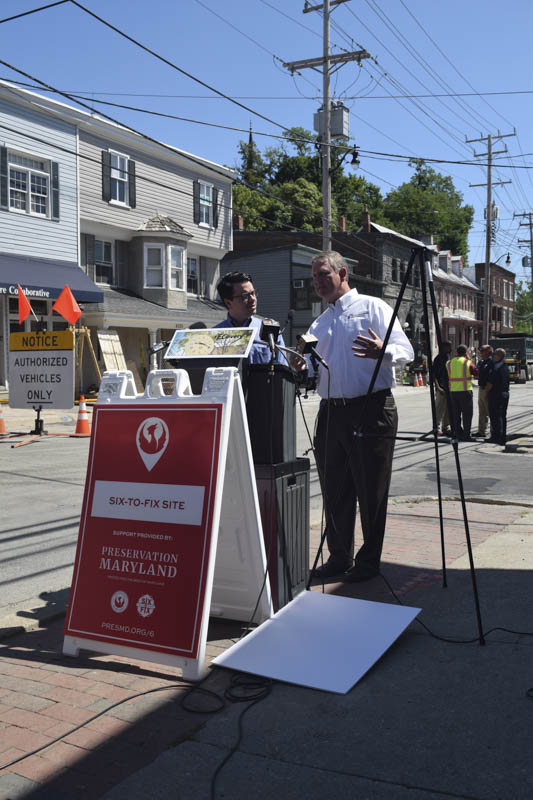 Preservation Maryland Ellicott City Press Conference in 2016