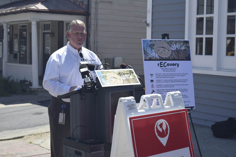 Responding to the devastating flood in Elliott City, Executive Kittleman, instituted an effective approach that included the safety of residents, the vitality of local Main Street businesses, and historic preservation