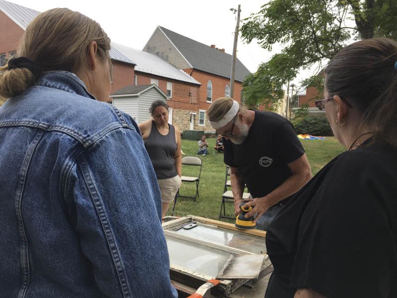 Images showing Preservation Maryland Workshop