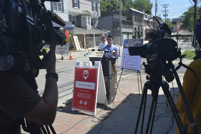 Announcement of the Ellicott City Six-to-Fix Project on August 30, 2016