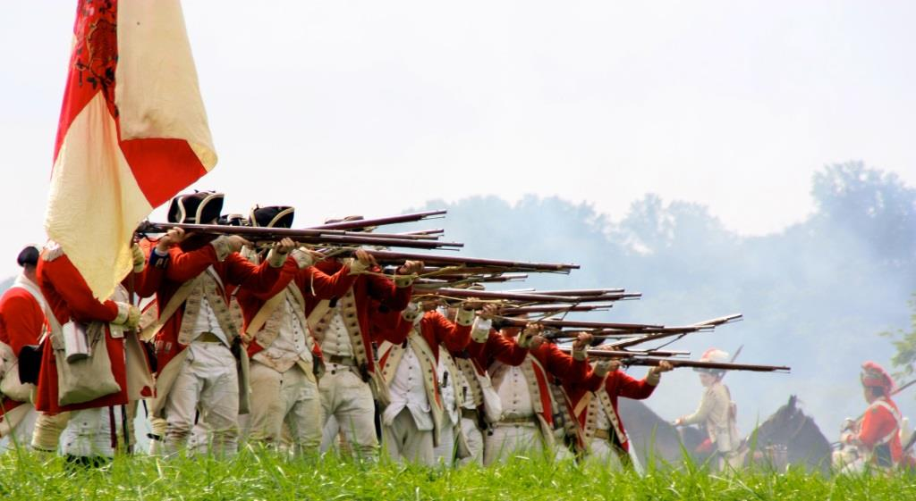 Image of A Revolutionary War reenactment at Mount Harmon. Photo from the Cecil Daily.