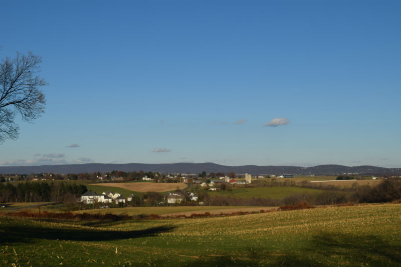 View of property and battlefield at Shafer Farm