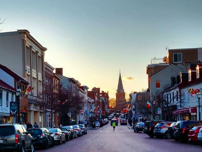 View of downtown Annapolis. Photo by Christina Csaszar, 2016.