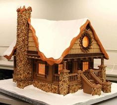 Craftsman Gingerbread House. Photo from Design Salad.