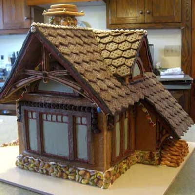 Craftsman Gingerbread House.