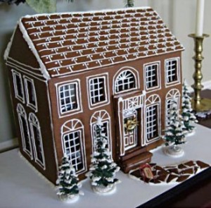 Federal Style Gingerbread House