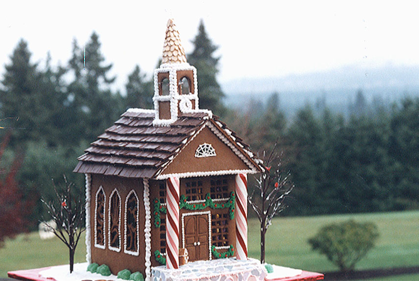 Georgian Gingerbread Church by Peggy Butler