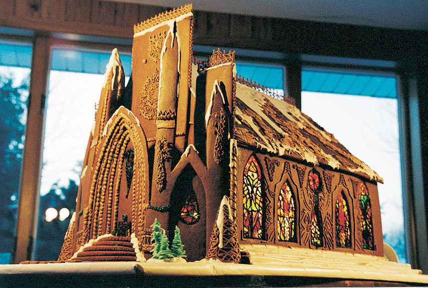 Gothic Revival Gingerbread Church by Becky Stella