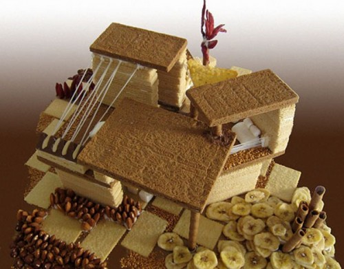 International Style Gingerbread House.