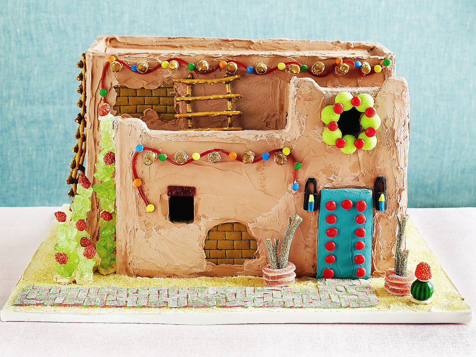 Pueblo Revival Gingerbread House