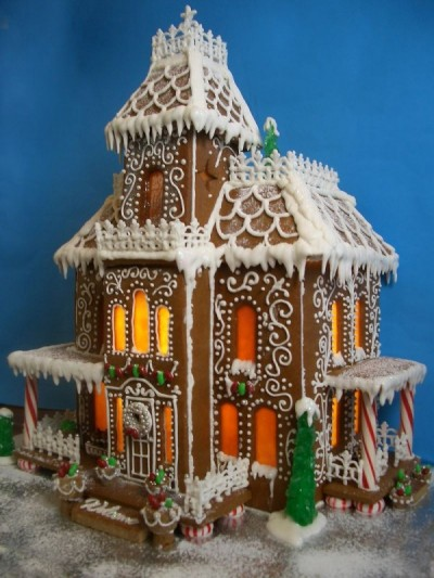 Second Empire Style Gingerbread House.