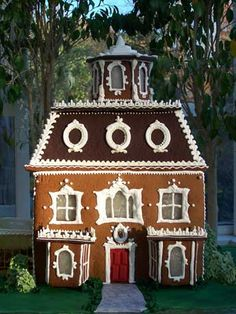 Second Empire Style Gingerbread House