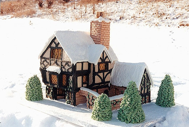Tudor Revival Style Gingerbread House